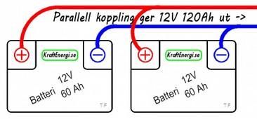 Parallellkoppling batteri 12v
