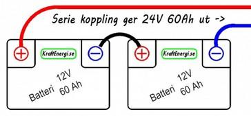 Parallellkoppla batteri olika ah